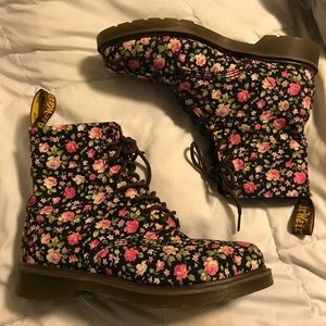 Doc Martens womens floral boot size 10